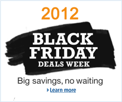 Amazon Black Friday 2012 Deals